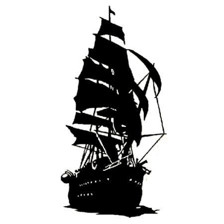 450x450 Pirate Ship Die Cut Vinyl Decal Pv1900 Dessin