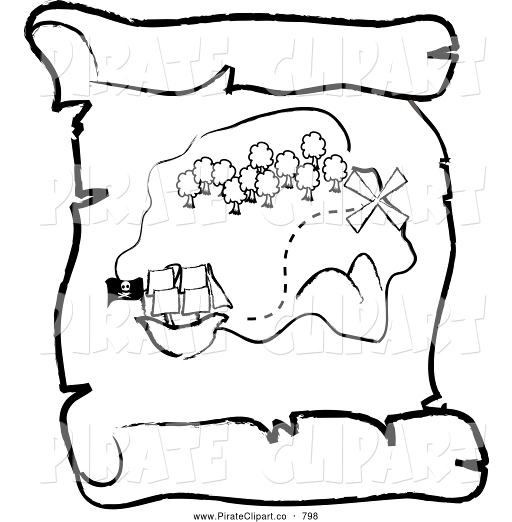 1024x1044 Vector Clip Art Of A Coloring Page Outlined Ship Near An Island
