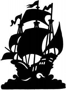 220x300 Peter Pan Pirate Ship Silhouette