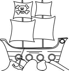 236x241 Black Pirate Ship Clip Art