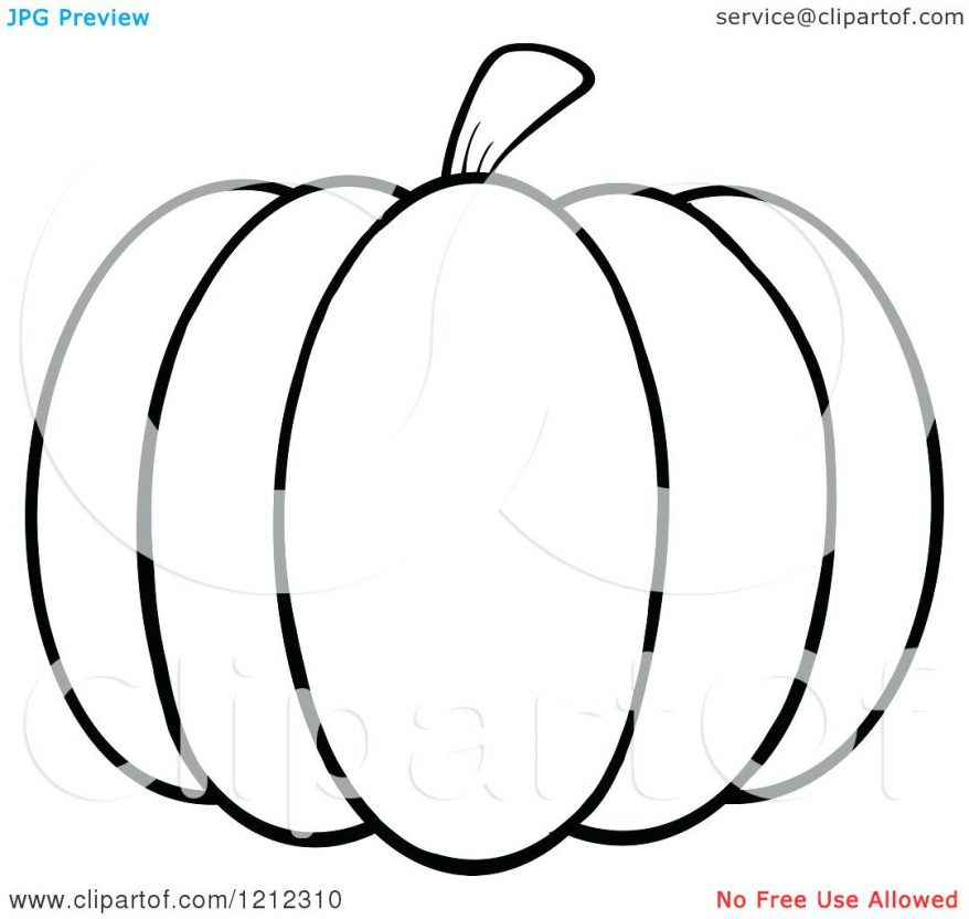 Black And White Pumpkin Outline