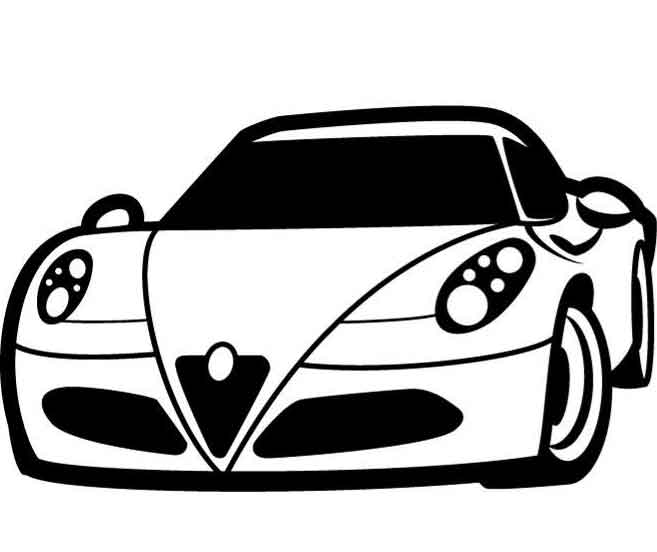 657x552 Car Black And White Car Clipart Black And White Free Download