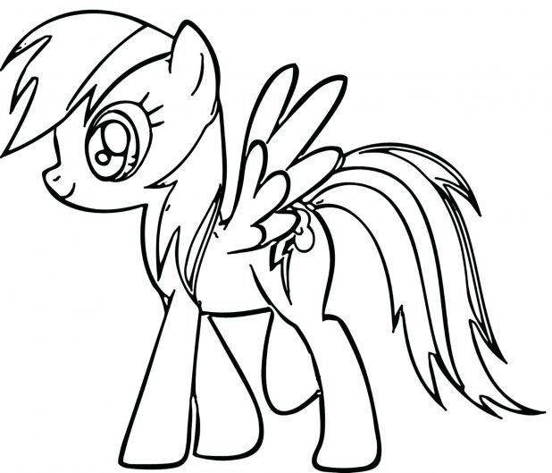 618x529 Coloring Appealing Rainbow Dash Outline. Mlp Rainbow Dash Outline
