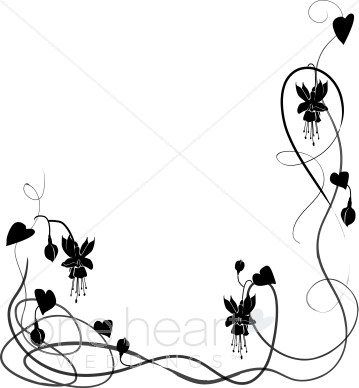 359x388 Wedding Flower Borders, Floral Wedding Borders, Flowering Borders