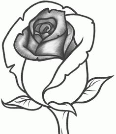 236x274 How To Draw A Rose Bud, Rose Bud, Step By Step, Flowers, Pop