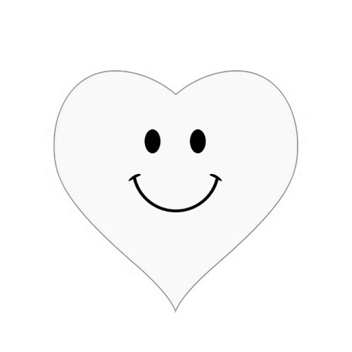 512x512 Black And White Smiley Face