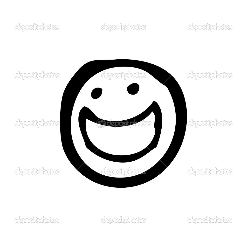 Black And White Smiley Faces Clipart