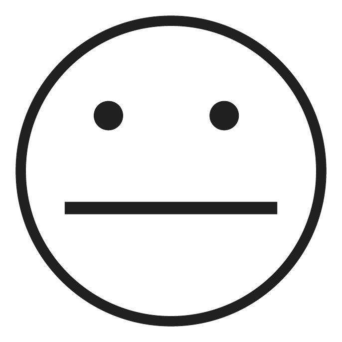 686x686 Emotions Clipart Shocked Large Eyed Black And White Smiley Face
