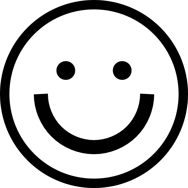 600x600 Free Smiley Face Clipart Black And White Image