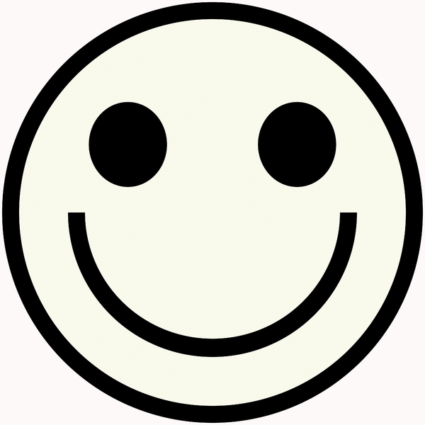 600x600 Smiley Face Clip Art Black And White