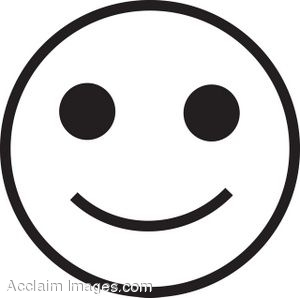 300x298 White Smiley Face Clipart