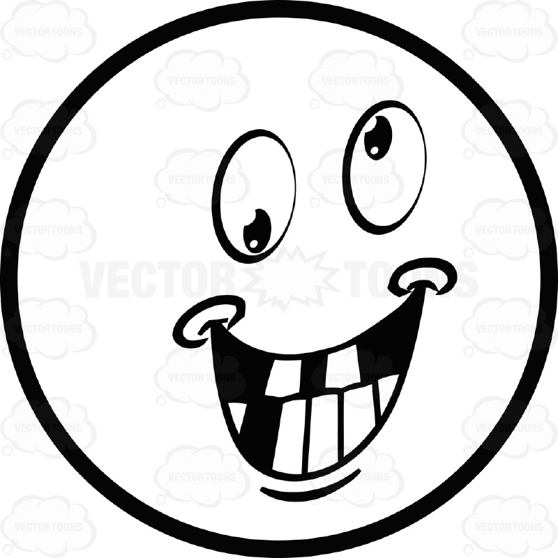 800x800 Drawn Smiley Black And White