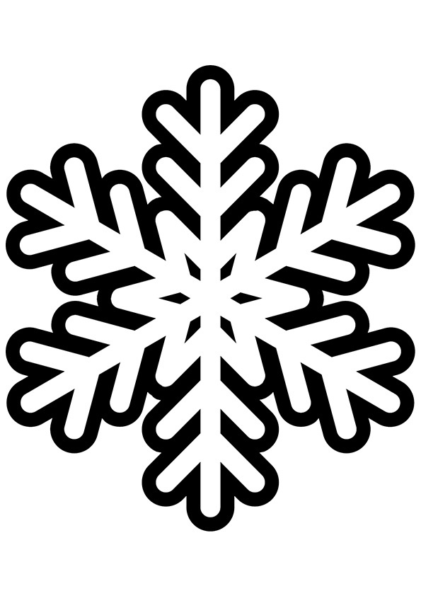 Black And White Snowflake Clipart | Free download best ...