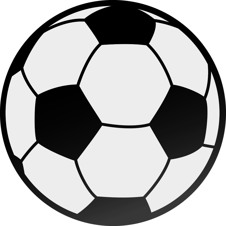 900x900 Football Black And White Image Of Football Clipart Black And White