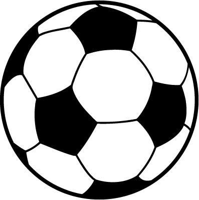 397x398 Soccer Ball Round Black And White Magnet