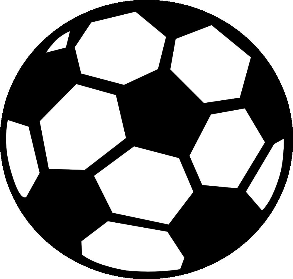 999x951 Soccer Ball Black White Clipart Panda