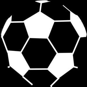 298x297 Black And White Soccer Ball Clip Art