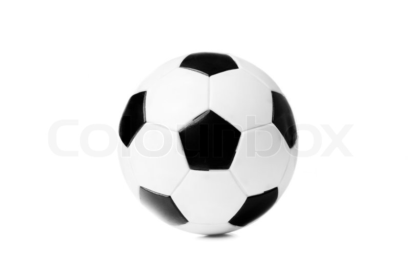 800x534 Black And White Soccer Ball Isolated On The White Background
