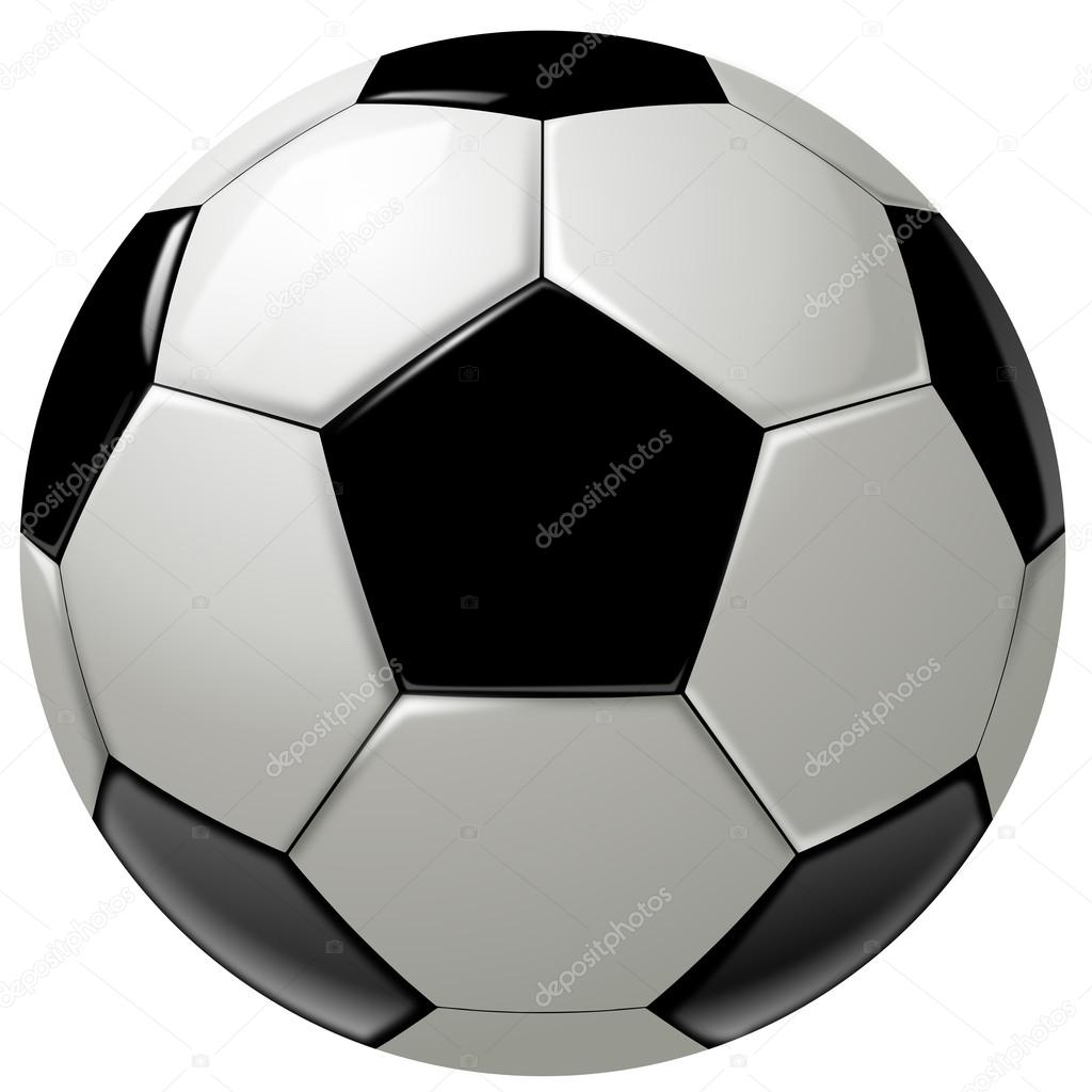 1024x1024 Black And White Soccer Ball Or Football Stock Photo Hd Design