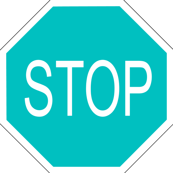 600x600 Black And White Stop Sign Clipart Free Clipart Clipartcow