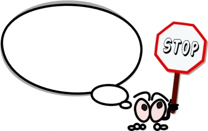 425x268 Black And White Stop Sign Clipart Free