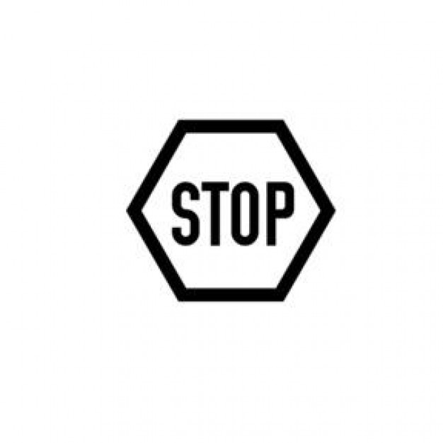 626x626 Stop Sign Clip Art Black And White