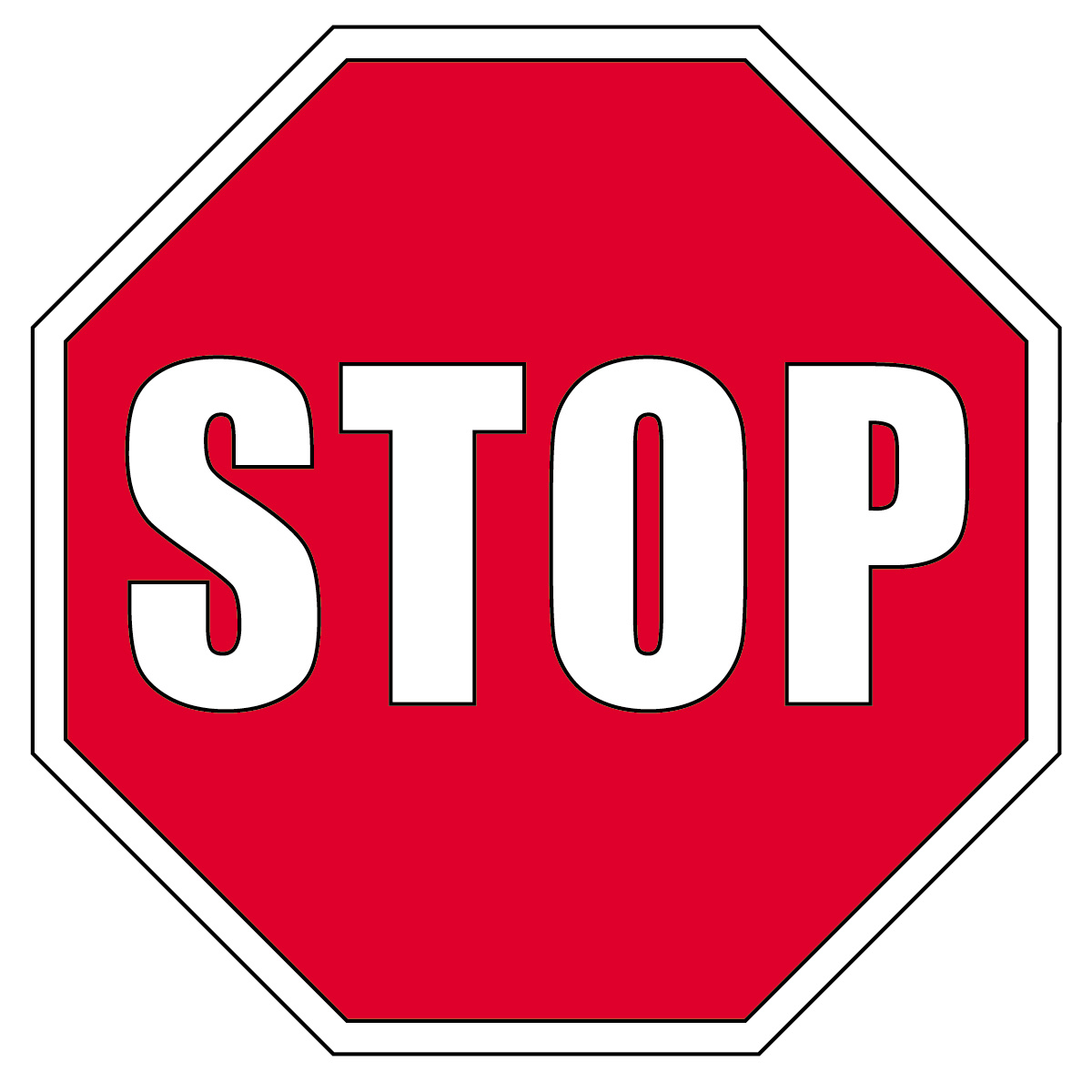 1200x1200 Stop Sign Clipart Black And White Clipart Panda