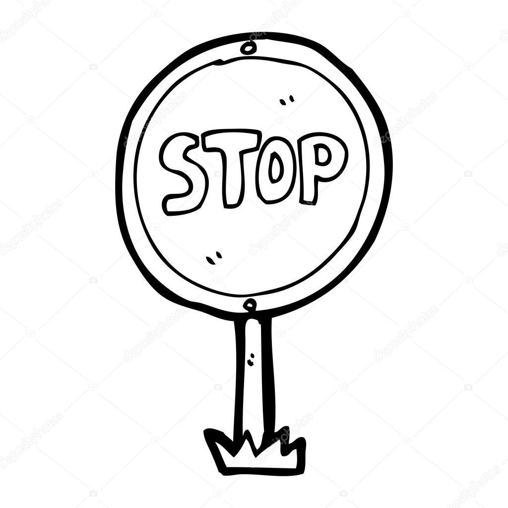 1024x1024 Stop Sign Cartoon Stock Vector Lineartestpilot