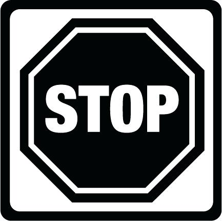 433x432 Printable Stop Signs