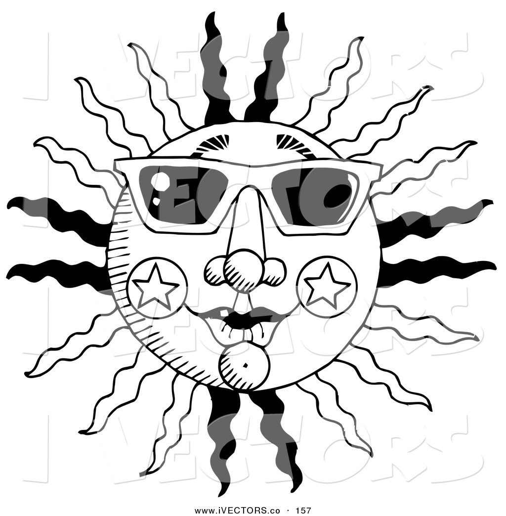Black And White Summer Clipart   Free download on ClipArtMag