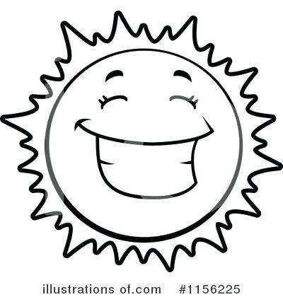 Black And White Sun Clipart