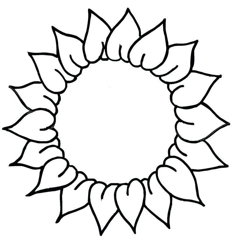 Black And White Sunflower Clipart | Free download on ...