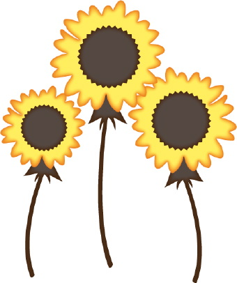 340x406 Sunflowers Clipart Black And White Free