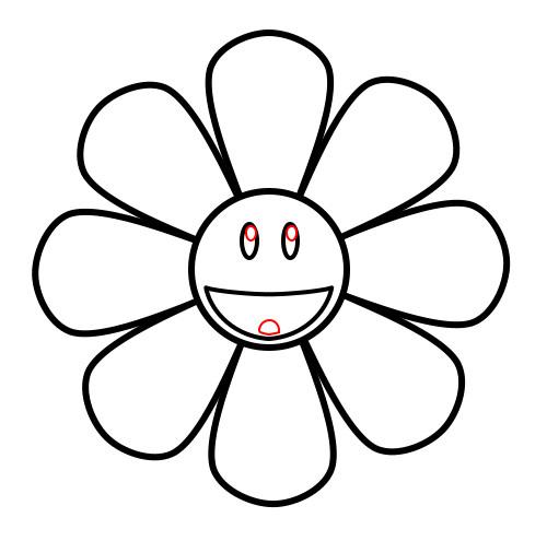 500x495 Drawing A Cartoon Sunflower