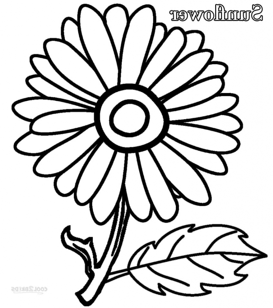 909x1024 simple sunflower drawing printable sunflower coloring pages for