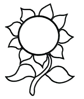 331x391 Sunflower Clipart Sunflower Black And White Black And White Flower