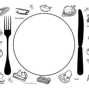300x300 Thanksgiving Dinner Clip Art In Black And White Happy Thanksgiving