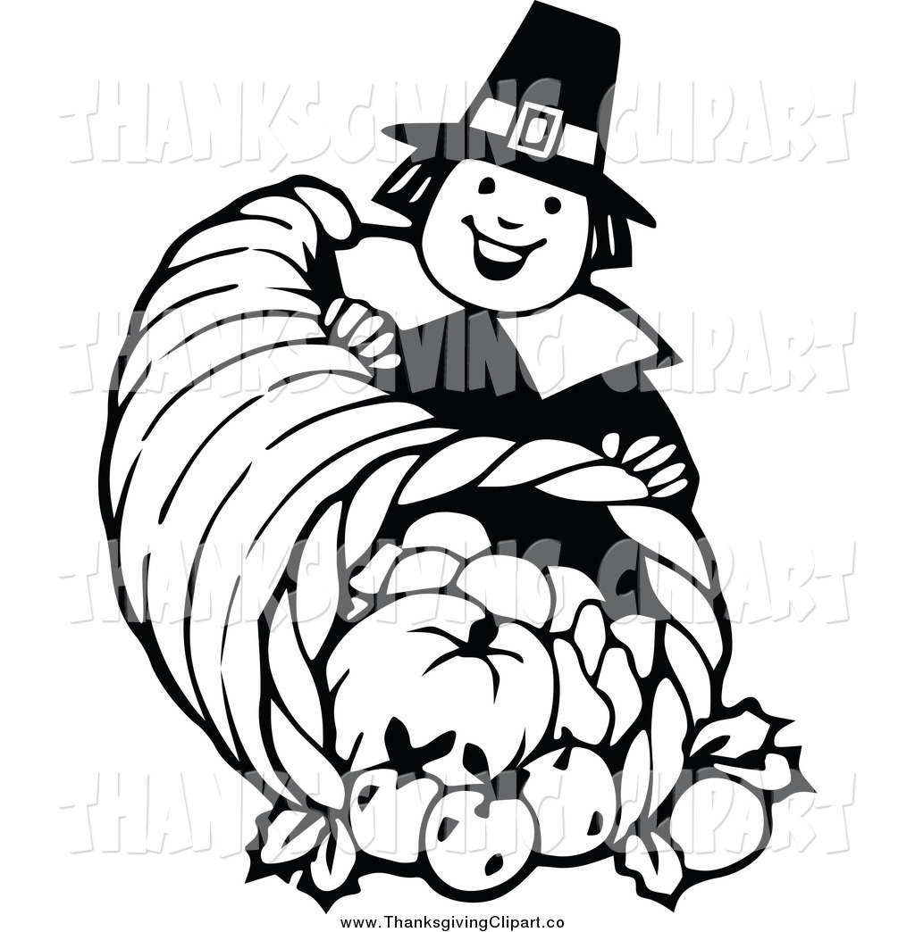 Black And White Thanksgiving Clipart Free Download Best Black And