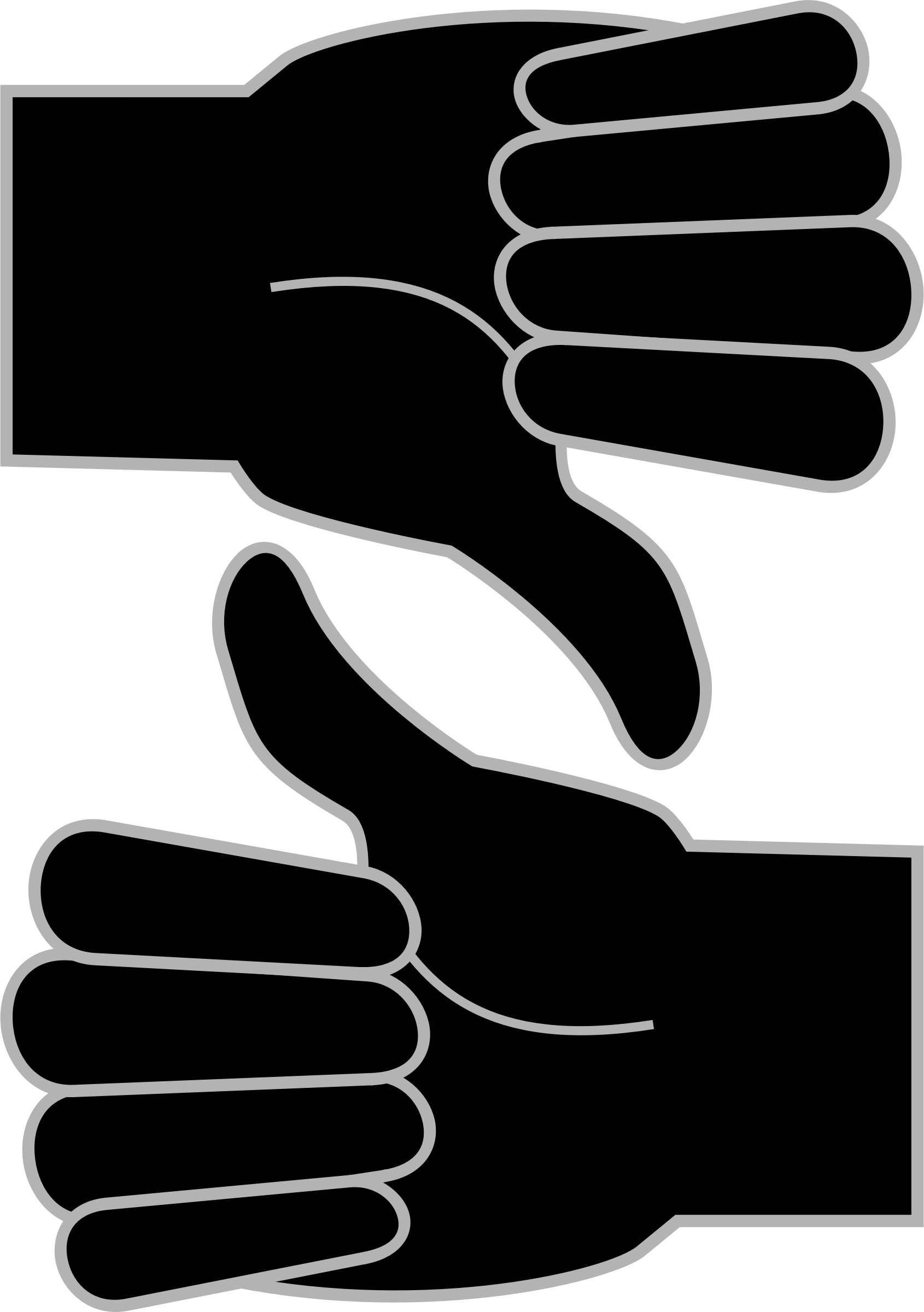 Black And White Thumbs Up | Free download on ClipArtMag