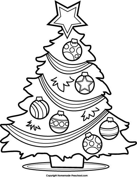 483x621 Christmas Tree Drawing Black And White