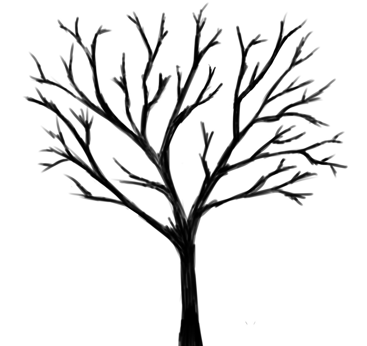 1280x1205 Black Tree