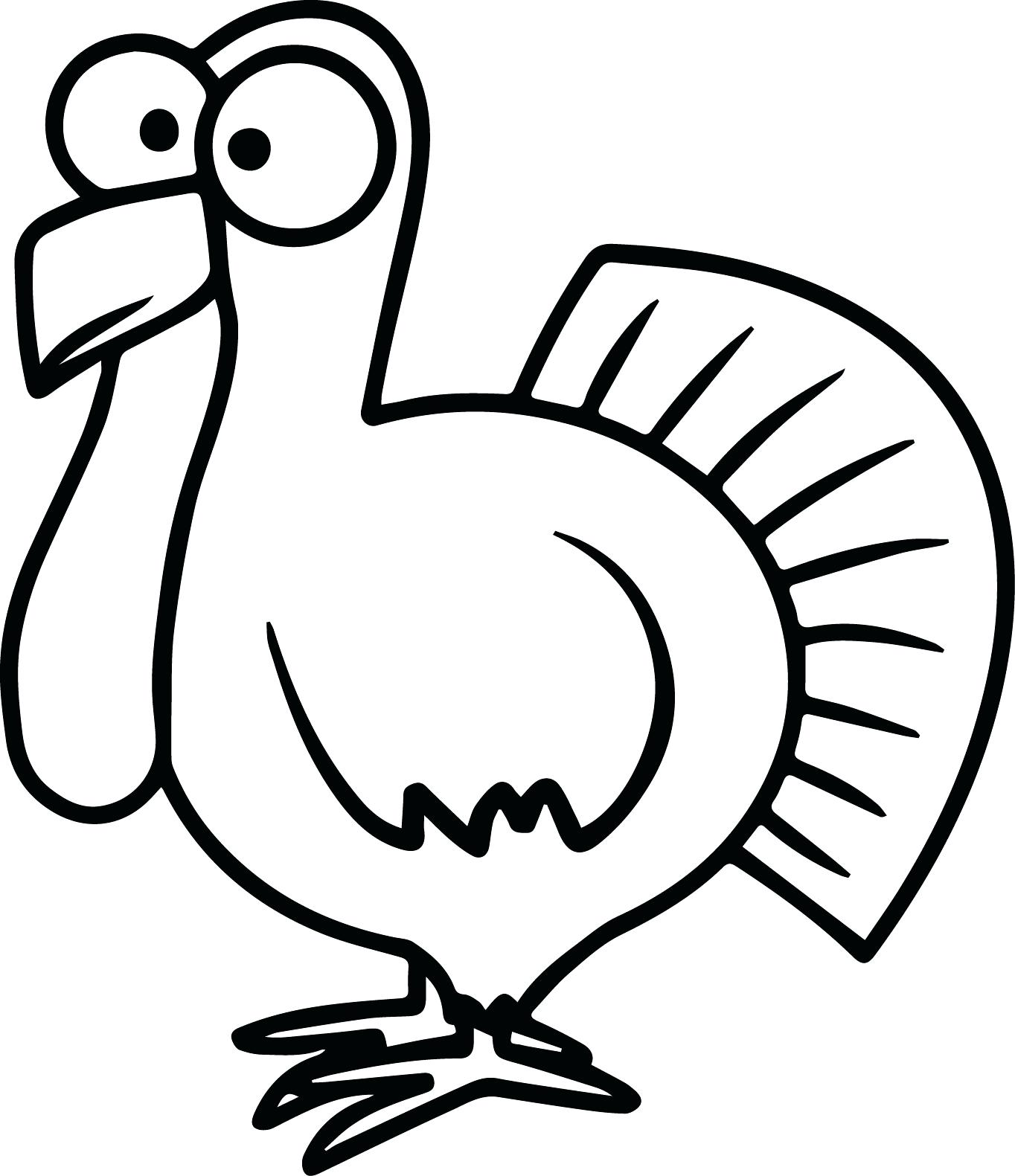good x turkey body coloring page outline of template with