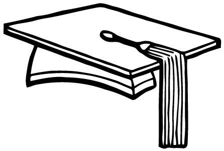 446x300 Black And White Vector For Graduation Cap