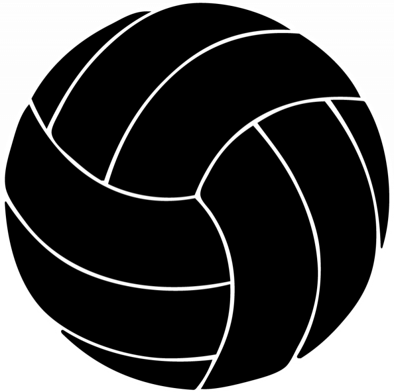 800x796 Black Clipart Volleyball
