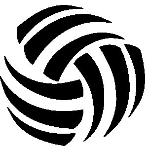 300x300 Free Volleyball Clipart Black And White Free Clipartix