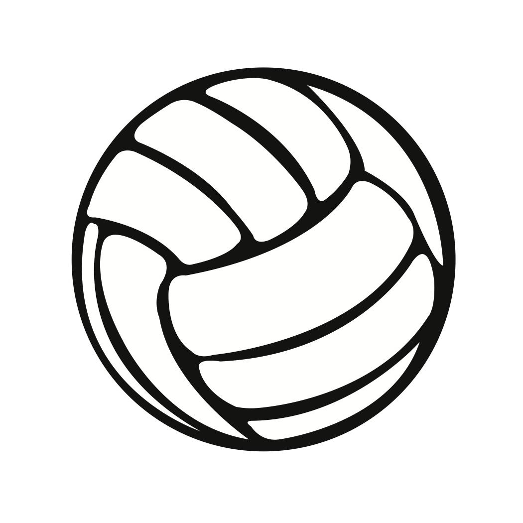 1050x1050 Hd Black And White Volleyball Ball Clipart Photos
