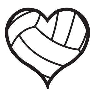 300x300 Heart Clipart Volleyball