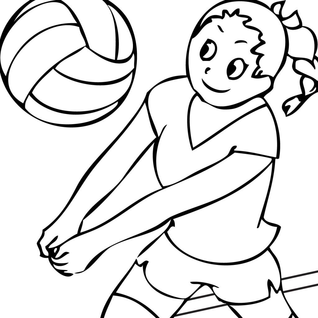 1024x1024 Image Of Volleyball Clipart Black And White