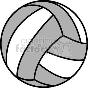 300x300 Royalty Free Volleyball Grey And White 381178 Vector Clip Art