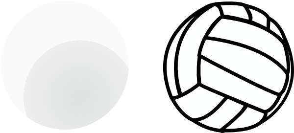 600x272 Volleyball Clip Art